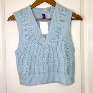 H&M - Divided Baby Blue Sweater Vest Size XS NWT